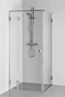 Dušo kabina MORTA PLIUS 90x90x1900 skaidrus st.