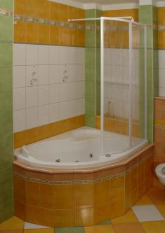 Vonios sienelė VSK2 ROSA 160L TRANSPARENT