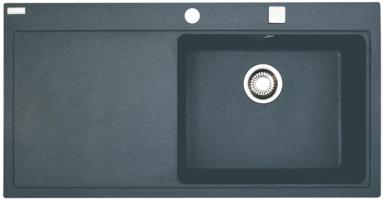Akmens masės plautuvė FRANKE MTG 611-100 dubuo dešinėje, Akmens pilka