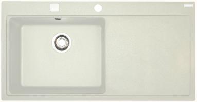 Akmens masės plautuvė FRANKE MTG 611-100 dubuo kairėje, Balta