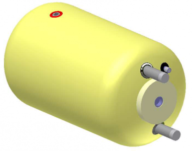 Vandens šildytuvas NIBE-BIAWAR W-E120.26 Plus 120L horizontalus, be teno