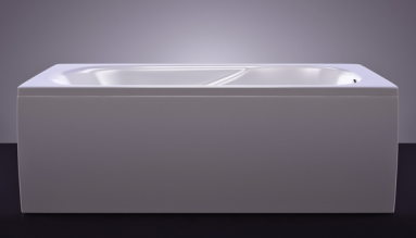 Akmens masės vonia VISPOOL CLASSICA 150x75 stačiakampė balta