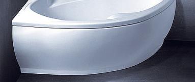 Vonios VISPOOL LAGO apdaila 150 kairės pusės balta