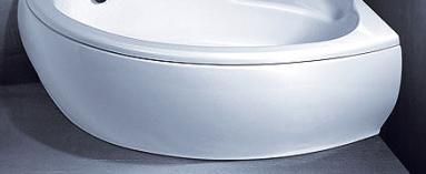 Vonios VISPOOL PICCOLA apdaila 150 dešinės pusės balta