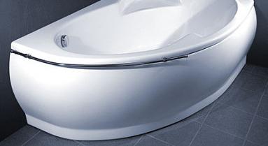 Vonios VISPOOL MAREA apdaila 170 kairės pusės balta
