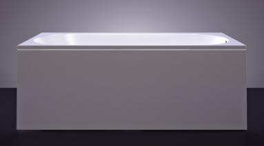Akmens masės vonia VISPOOL LIBERO 180x80 stačiakampė balta