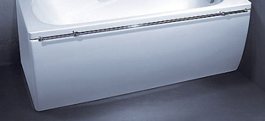 Vonios VISPOOL CLASSICA apdaila 180 L formos kairės pusės balta