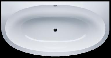 Akmens masės vonia VISPOOL GEMMA 1935x1015 apvalinti du kampai balta