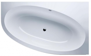 Akmens masės vonia VISPOOL GEMMA kampinė kairės pusės balta