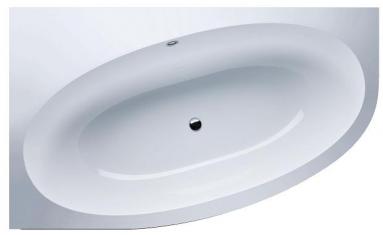 Akmens masės vonia VISPOOL GEMMA kampinė dešinės pusės balta