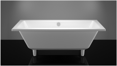 Akmens masės vonia VISPOOL NORDICA 170x75 balta su matomomis kojomis