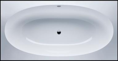 Akmens masės vonia VISPOOL GEMMA 1935x1015  balta