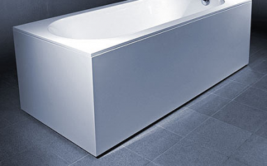 Vonios VISPOOL LIBERO apdaila 180 L formos balta
