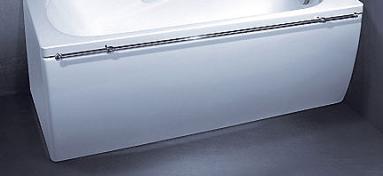 Vonios VISPOOL CLASSICA apdaila 180 L formos dešinės pusės balta