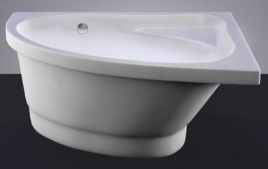 Akmens masės vonia MIA 140x90 kairės pusės balta