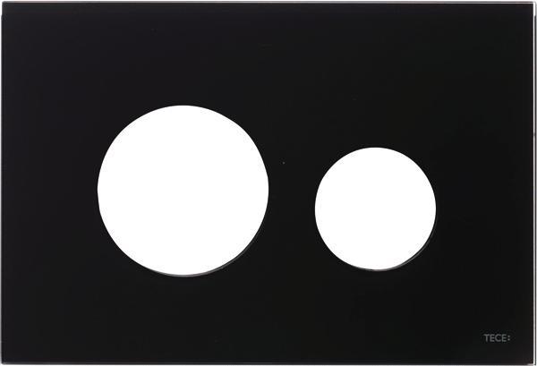 Stiklinis paviršius TECEloop, juodas