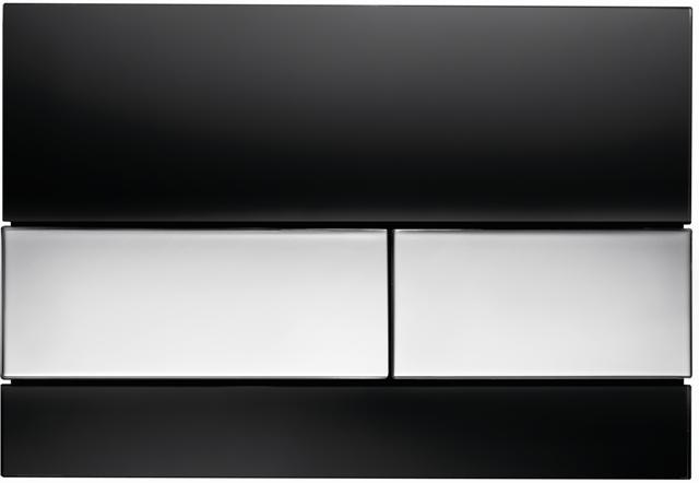 Vandens nuleidimo mygtukas TECEsquare, juodas chromuotas