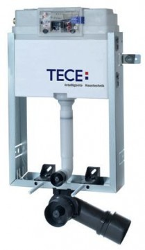 TECE vandens nuleidimo bakelis tvirtinamas į mūrą