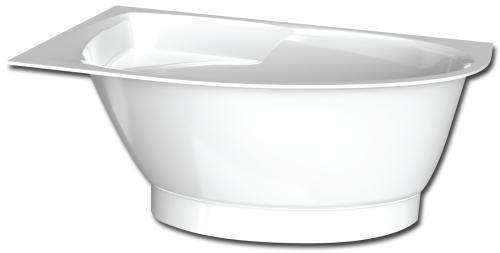 Akmens masės kampinė vonia PAA Tre 1500mm x 1000mm x 650mm su mažu uždengimu