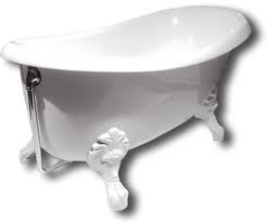 Akmens masės vonia PAA Victoria su lieto akmens kojomis 170 cm