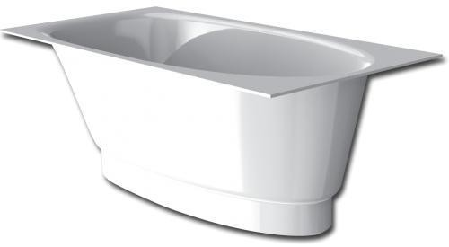 Akmens masės vonia PAA Uno 1500mm x 750mm x 640mm  su uždanga