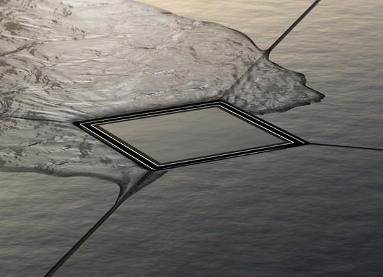 TECEdrainpoint S trapas DN50, sausas, horizontalus, ypač plokščias su flanšu, grotelės įklijuojamai plytelei