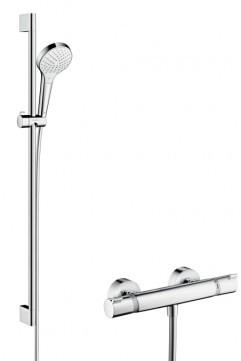 Hansgrohe termostatinis dušo komplektas Croma Select S Combi, Dušo stovas - 0,65 m