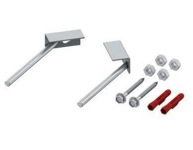 TECE modulių tvirtinimo elementai, skirti tvirtinimui prie sienos, kampiniam montavimui