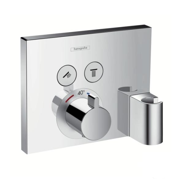 Hansgrohe ShowerSelect termostatinis maišytuvas dušui su Fixfit jungtimi