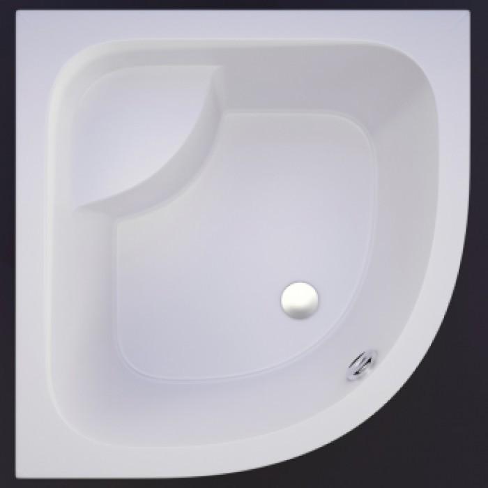 Akmens masės pusapvalis dušo padėklas Vispool RD-90 gilus (R550)