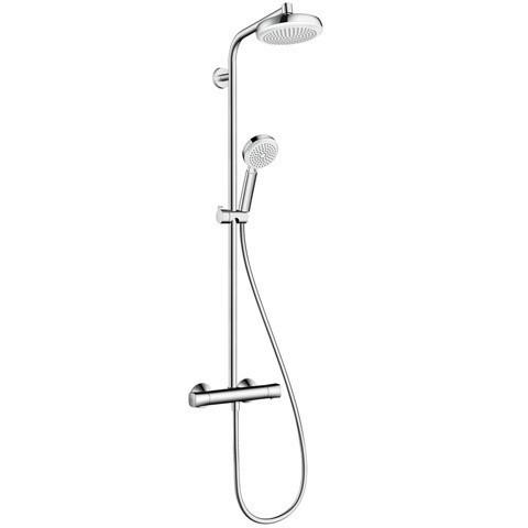Hansgrohe dušo komplektas su termostatiniu maišytuvu Crometta 160 1jet Showerpipe EcoSmart 9 l/min
