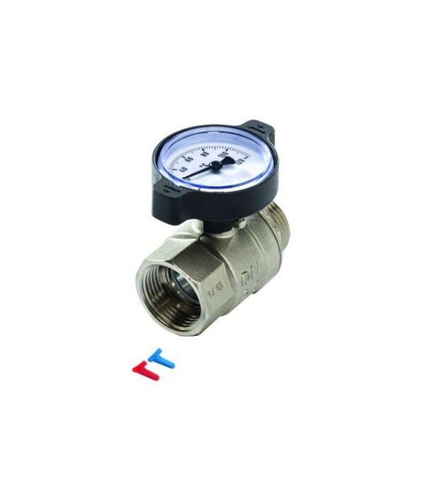SLQ Rutulinis ventilis su termometru