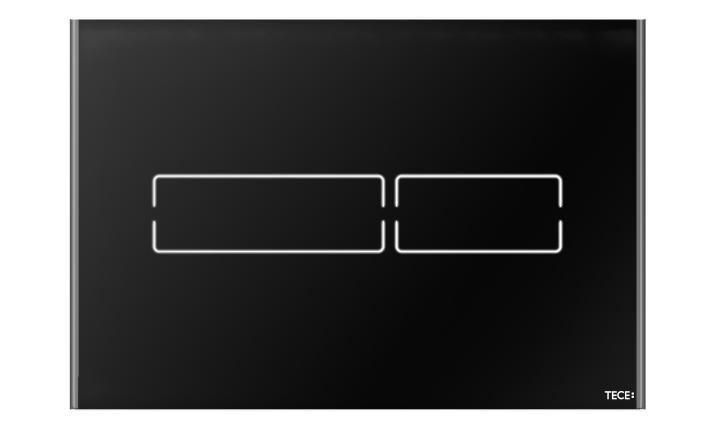 TECElux Mini vandens nuleidimo klavišas touch-free (juodos spalvos)