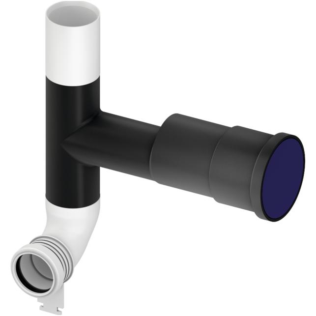 WC bakelio vandens nubėgimo alkūnė su atšaka ventiliacijos pajungimui, dešinė arba kairė