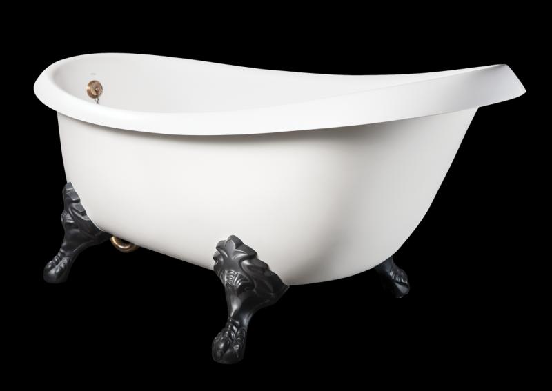 Akmens masės vonia PAA Victoria su ANTICA GRAPHITE kojomis  170 cm