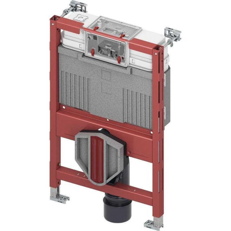 TECE universalus WC modulis su Uni vandens bakeliu ir bidė funkcija, pažemintas  H=820mm
