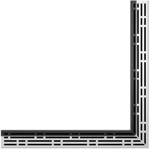 """Dušo latako grotelės kampinės """"Basic"""", poliruotos 900x900mm"""