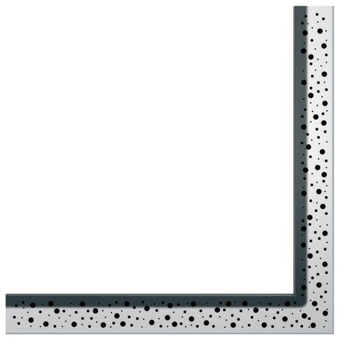 """Dušo latako grotelės kampinės """"Drops"""", poliruotos 900x900mm"""