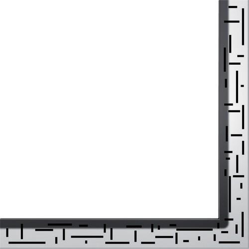 """Dušo latako grotelės kampinės """"Lines"""", poliruotos 900x900mm"""
