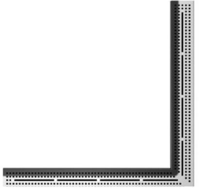 """Dušo latako grotelės kampinės """"Quadrum"""", poliruotos 900x900mm"""