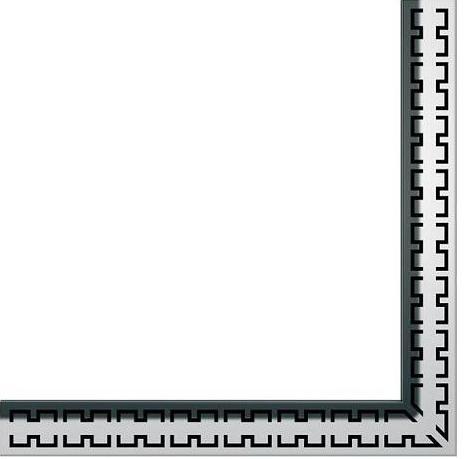 """Dušo latako grotelės kampinės """"Royal"""", poliruotos 900x900mm"""
