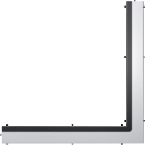 """Dušo latako grotelės kampinės """"Steel"""", poliruotos 900x900mm"""